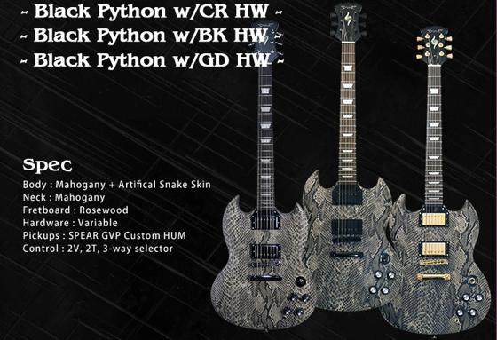 蛇皮のギター